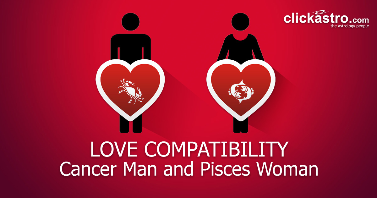 Pisces female cancer male
